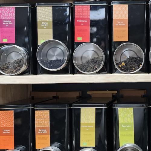 Cafés en grains, thés et tisanes